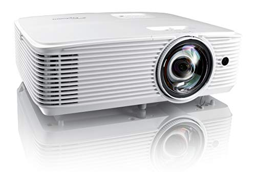 Optoma EH412ST Short Throw 1080P HDR Professional Projector | Super Bright 4000 Lumens | Business Presentations, Classrooms, or Meeting Rooms | 15,000 hour lamp life | Speaker Built In | Portable Size