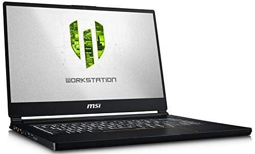 MSI WS65 8TK-888 (i7-8850H, 32GB RAM, 512GB NVMe SSD, NVIDIA Quadro RTX 3000 6GB, 15.6' Full HD, Windows 10 Pro) VR Ready Workstation Laptop