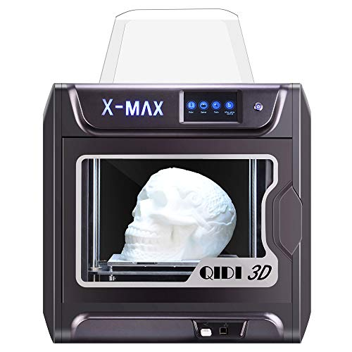 QIDI TECH Large Size Intelligent Industrial Grade 3D Printer New Model:X-max,5 Inch Touchscreen,WiFi Function,High Precision Printing with ABS,PLA,TPU,Flexible Filament,300x250x300mm