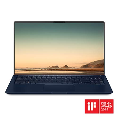 "Asus ZenBook 15 Ultra Slim Compact Laptop 15.6"" FHD 4-Way NanoEdge, Intel Core i7-8565U Processor, 16GB DDR4, 512GB PCIe SSD, GeForce GTX 1050, Ir Camera, Windows 10, UX533FD-DH74, Royal Blue"