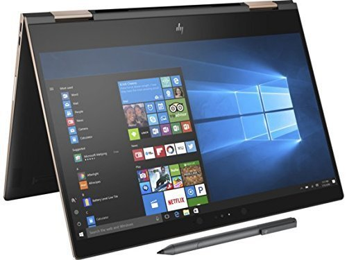 Newest HP Spectre x360-13t Quad Core(8th Gen Intel i7-8550U, 16GB DDR4, 512GB PCIe NVMe SSD, IPS micro-edge Touchscreen Corning Gorilla, Windows 10 Ink)Bang&Olufsen 13.3' 2-in-1 Convertible - Dark Ash