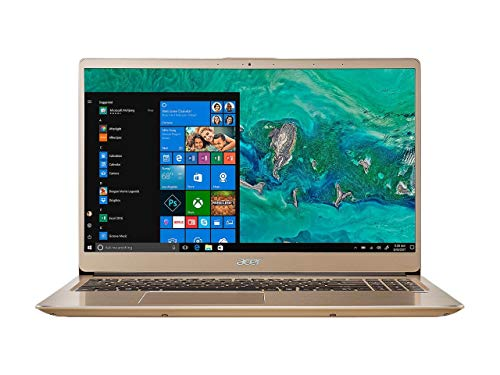 2019 Acer Swift 3 Premium Laptop | Intel Core i7-8550U Quad-Core Processor | 16GB Memory | 512G SSD | Intel UHD Graphics 620 | Backlit Keyboard | Fingerprint | Windows 10 Home | Gold