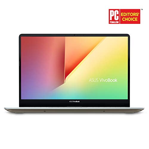 "Asus Vivobook S15 S530FA Thin & Light Laptop, 15.6"" FHD NanoEdge Bezel, Intel Core I5-8265U (Up to 3.9 GHz), 8GB DDR4, 256GB SSD, Icicle Gold Metal Finish, Windows 10 Home, S530FA-DB51-IG"