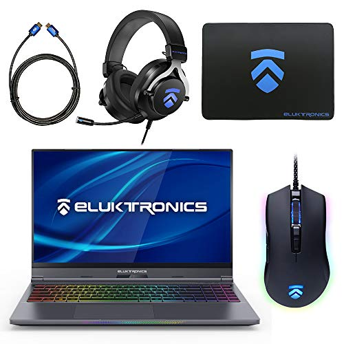 Eluktronics MAX-15 Slim & Ultra Light Notebook PC: Intel i7-9750H NVIDIA GeForce RTX 2060 Max-P Graphics Card 144Hz FHD IPS 512GB NVMe SSD + 16GB RAM - World's First 15.6' Gaming Laptop Under 4lbs!