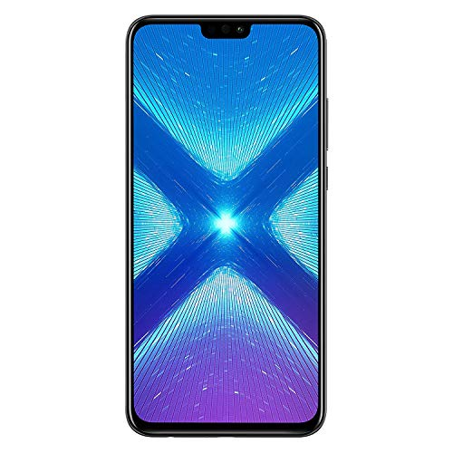 Huawei Honor 8X (64GB + 4GB RAM) 6.5' HD 4G LTE GSM Factory Unlocked Smartphone - International Version No Warranty JSN-L23 (Black)