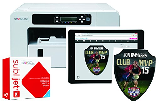 Sawgrass Virtuoso Sublimation Printer With CMYK Inks & 100 Sheets Of 8-1/2' x 11' Sublimation Paper INCLUDING Creative Studio Software!