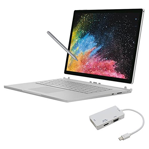 Microsoft Surface Book 2 15 Inch 1TB i7 16GB RAM Bundle (1.9GHz i7 Up to 4.2GHz, 3240 x 2160 Resolution, NVIDIA GeForce GTX 1060)