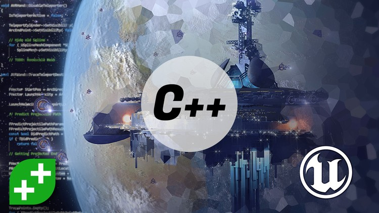 Online course on Udemy for Unreal Engine C++ Developer: Learn C++ and Make Video Games.