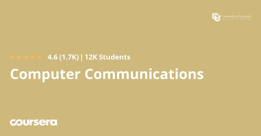 Online course on Coursera for Computer Communications Specialization.