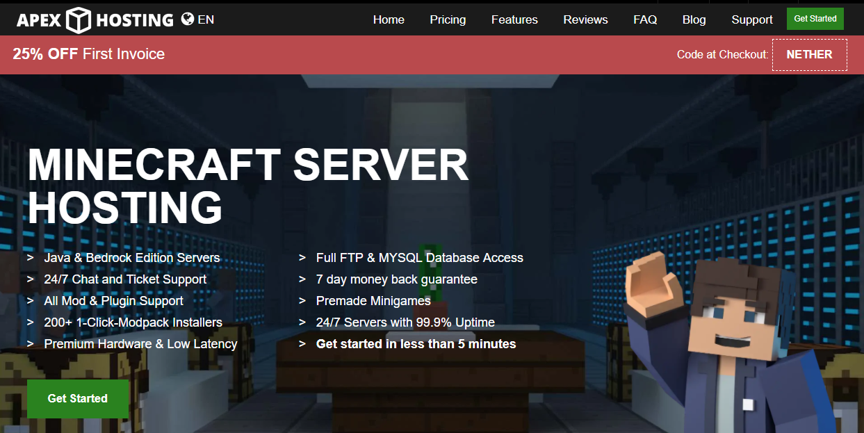 Feature image for best feed the beast server hosting.