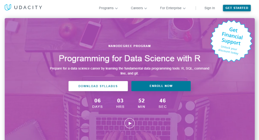 Online course on Udacity for Programming for Data Science.